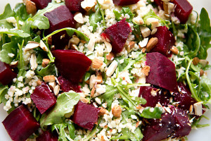 Garlic, Beet,Lemon, Coriander Salad