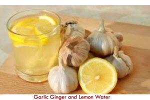 Garlic Ginger and Lemon water